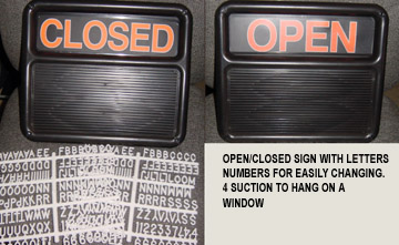 open/close sign